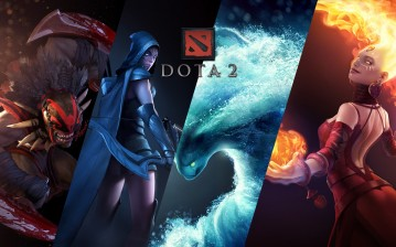 Lina inverse, дота 2, bloodseeker, traxex, Dota 2, defense of the ancients, morphling обои