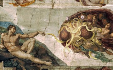 Пастафарианство, адам, бог, религия, god, Flying spaghetti monster обои