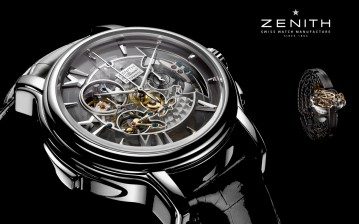 Часы, watch, zenith, black обои