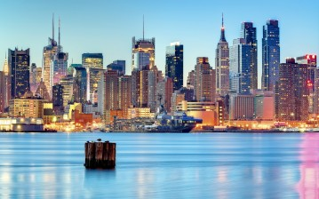 United states, new jersey, weehawken, new york city обои