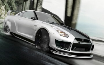 Godzilla, r35, nissan, gtr, by hoperformance обои