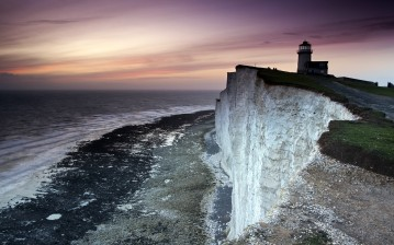 England, beachy head, belle tout lighthouse обои