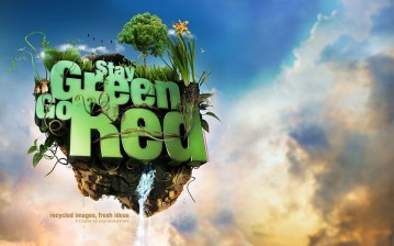 Stay Green Go Red обои