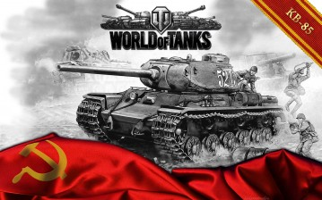 Танк КВ-85, World of Tanks обои