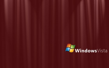 Бордовый занавес Windows Vista обои