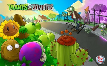 Plants vs zombies обои