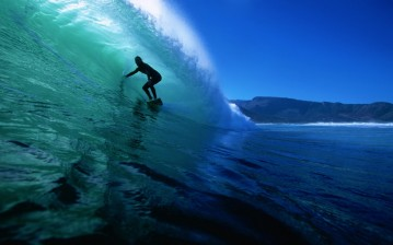 Surfer, on a, wave обои