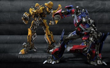Optimus Prime and Bumblebee обои