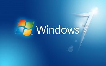Синие Windows 7 обои