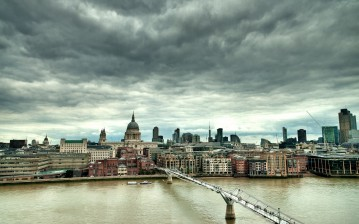 Лондон, england, London, millennium bridge, uk обои